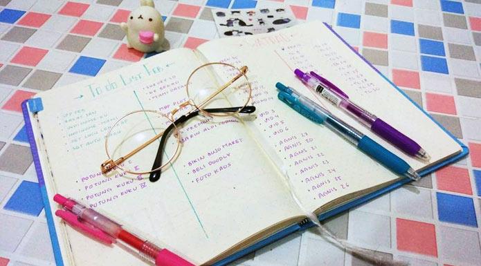 Cara Membuat Bullet Journal Menulis Februari 2019